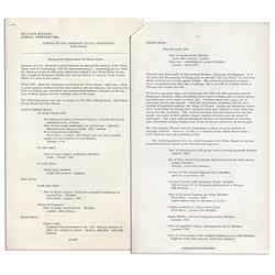 Press Release Re Jackie Kennedy White House Renovation