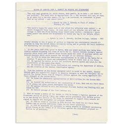 From JFK John Kennedy Senate Files, Defense 1960 Views