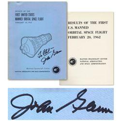 First US Manned Orbital Space Flight John Glenn Signed