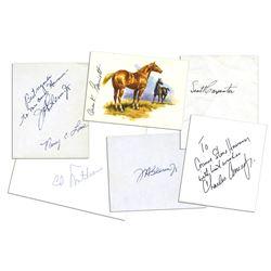 Scott Carpenter, John Glenn, Charles Conrad Signatures