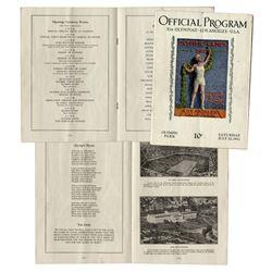 1932 Summer Olympics Program -- Held in Los Angeles