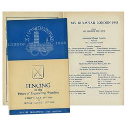 1948 London Summer Olympics Fencing Program