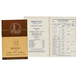 1948 London Summer Olympics Boxing Program