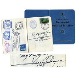 Jesse Owens Isaac Asimov Signed Philatelic Passport