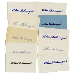 Lot of 10 Index Cards Signed by HOFer Charles Gehringer