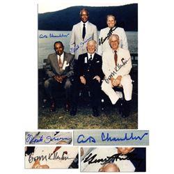 B Kuhn, M Irvin, H Chandler, Gene Autry Signed Photo
