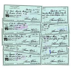 Harmon Killebrew Signed Personal Checks -- Lot of 10
