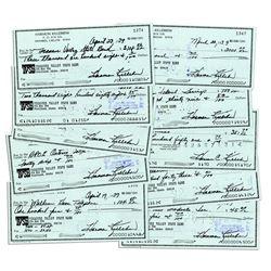 10 Harmon Killebrew Personally Signed Checks