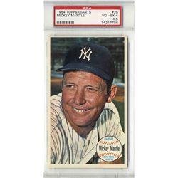 1964 Topps Giants Mickey Mantle #25 PSA 4.5