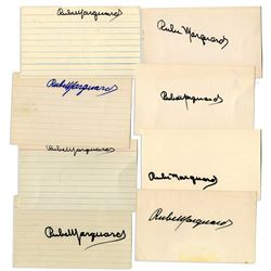 Rube Marquard Signed Lot of 8 Index Cards