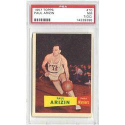 1957 Topps -- Paul Arizin #10 -- PSA 7