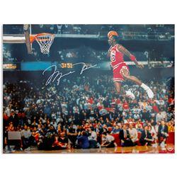 Michael Jordan 40'' x 30'' Signed Photo; Upper Deck COA