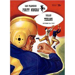 1952 Dallas Texans San Francisco 49ers NFL Program