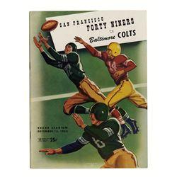 Colts Vs. 49ers Program 1953