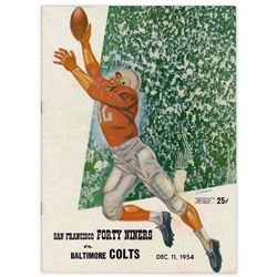 Baltimore Colts vs. San Francisco 49ers Program December 1954