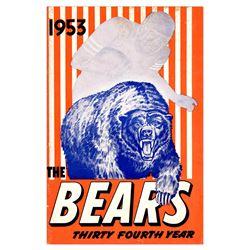 Chicago Bears NFL  Media Guide 1953