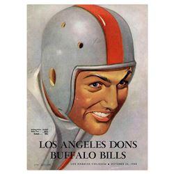 1948 Los Angeles Dons Buffalo Bills Program AAFC