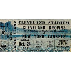 1948 Cleveland Browns New York Yankees AAFC Ticket