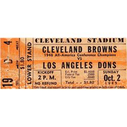 1949v Cleveland Browns Los Angeles Dons AAFC Ticket