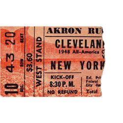 1949 Cleveland Browns New York Yankees AAFC Ticket