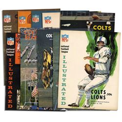 Collection of 10 Vintage 1960's Baltimore Colts Program