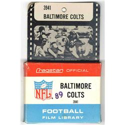 Official NFL 8mm film reel highlighting the 1960's Baltimore Colts