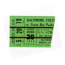 Colts Vs. Packers Ticket Stub -- 29 October 1955