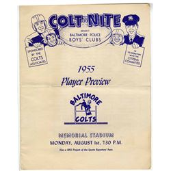Baltimore Colts ''Colt Nite Player Preview'' -- 1 August 1955