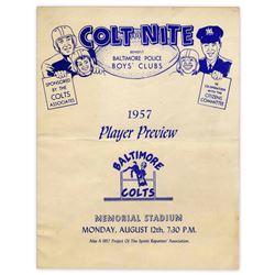 Baltimore Colt Nite Magazine 12 Aug 1957 Blues v Whites