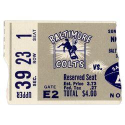 Colts vs. 49ers Ticket Stub -- 22 November 1959