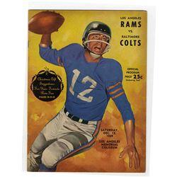 Baltimore Colts vs. Los Angeles Rams Program -- 12 December 1959