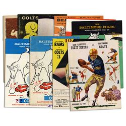 Collection of 10 Vintage Baltimore Colts Programs