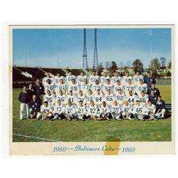 1960 Baltimore Colts 6.25'' x 5''  Team Photo w Tape Mark