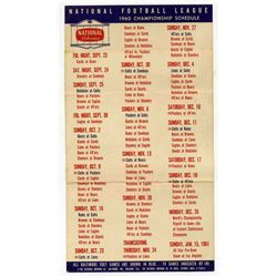 Colts Schedule 1960