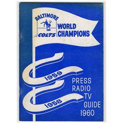 Colts Press Radio & T.V. Guide