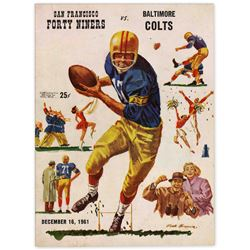 Colts vs. 49er's Program 16 December 1961 at Kezar S.F.