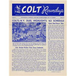 The Baltimore Colts Roundup, Vol. 9, Spring 1963