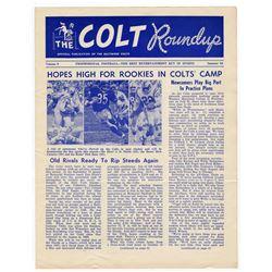 'The Colt Roundup'' Official Colts Publication Summer 1963