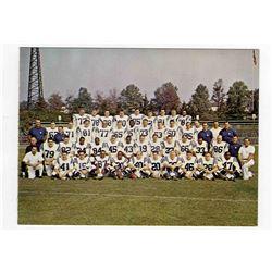 1965 Baltimore Colts 6.5'' x 5'' Christmas Team Photo