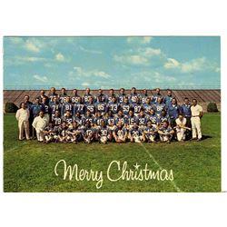 1966 Baltimore Colts 6.25'' x 4.5'' Christmas Team Photo