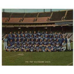 Colts Glossy Team Photo 1967 -- 8'' x 10''