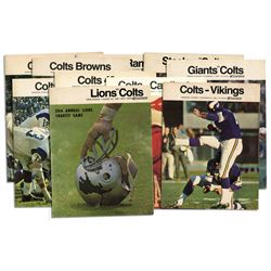 10 Baltimore Colts Programs From the 1968 Season