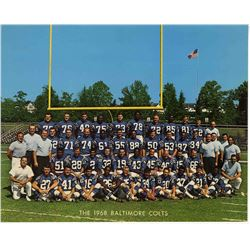 Superbowl III Contenders the 1968 Colts Official Team Photo