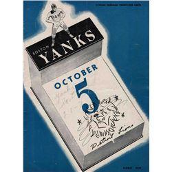 1947 Detroit Lions Boston Yanks NFL Program Football