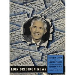 1948 Detroit Lions Boston Yanks NFL Football Program