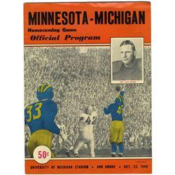 Michigan vs. University of Minnesota Football Program