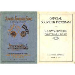1923 Navy Princeton Football Program