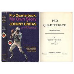 Baltimore Colts QB Johnny Unitas ''Pro Quarterback: My Own Story''