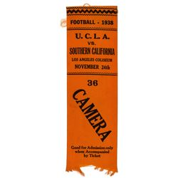 1938 UCLA UCLA Football Game Ribbon