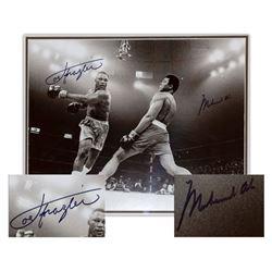 Muhammad Ali Joe Frazier Signed 20'' x 16'' Photo Steiner